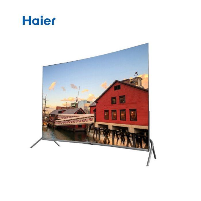 海尔(Haier)电视机55/65寸 曲面屏 4K超清晰无边框 人工智能语音 家联网视频液晶电视 55QM62A 黑色